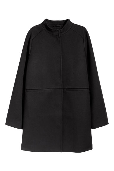 Short wool-blend coat - Black - Ladies | H&M IE