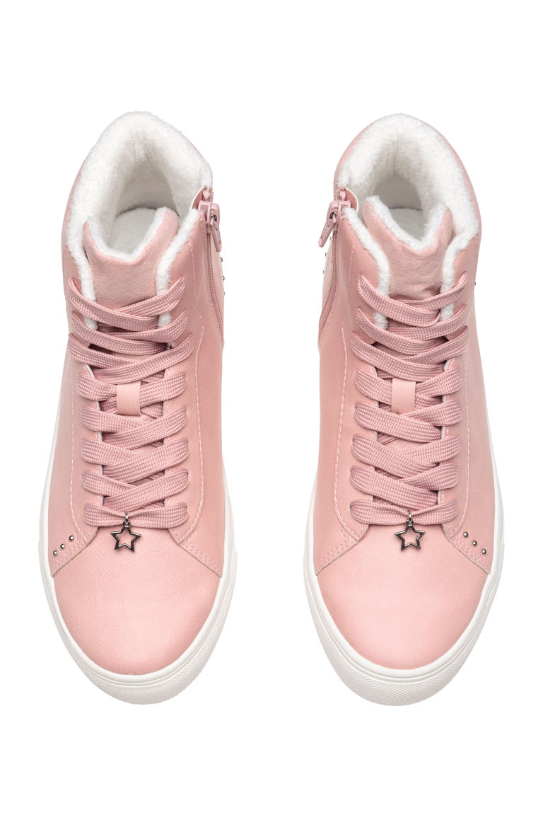 Pile-lined hi-tops - Pink - Kids | H&M