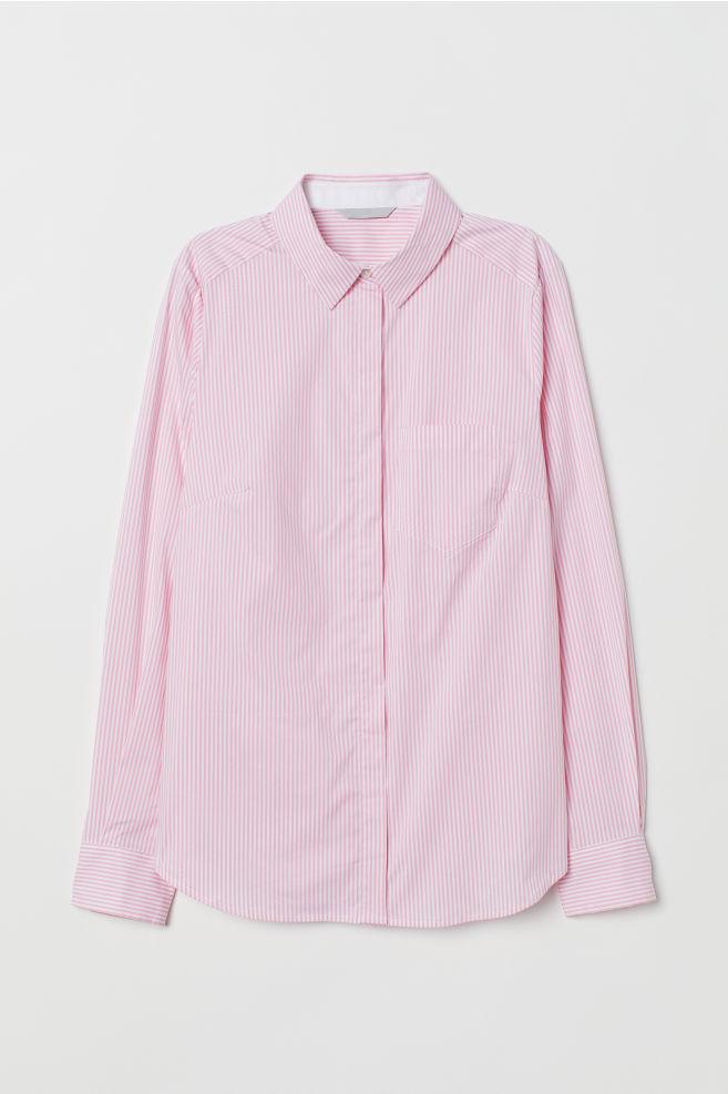 0b342658dd Testhezálló ing - Világos rózsaszín/fehér csíkos - NŐI | H&M ...