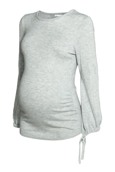 MAMA Fine-knit jumper - Light grey - Ladies | H&M CN