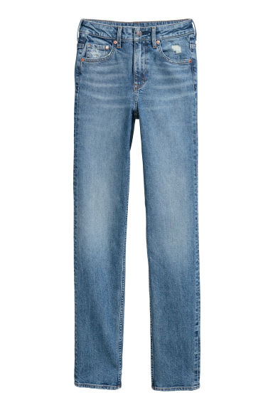 Straight High Jeans - Denimblauw - DAMES | H&M BE