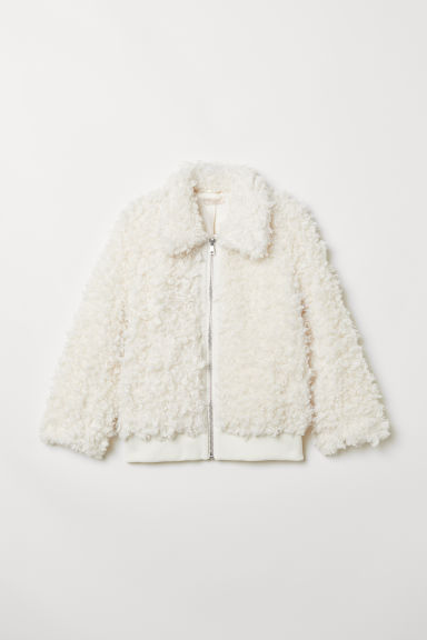 Faux fur jacket - White - Ladies | H&M CN
