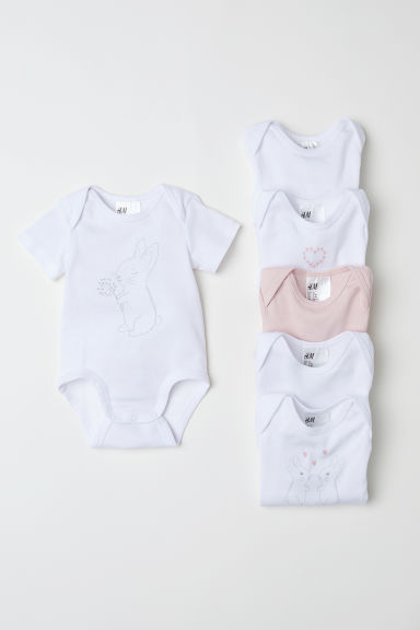 Bodies, lot de 6 - Rose poudré/lapins -  | H&M CH