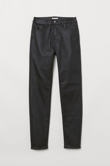 Skinny High Jeans - Zwart/coating - DAMES | H&M BE