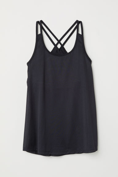 Sports top with sports bra - Black - Ladies | H&M CN