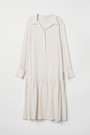 Cupro-blend Dress - Cream - Ladies | H&M US
