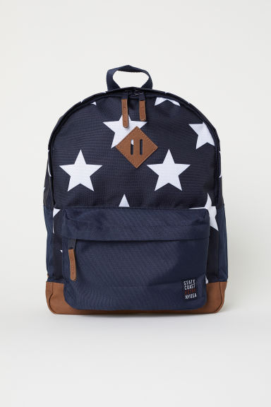 Patterned backpack - Dark blue/Stars -  | H&M GB