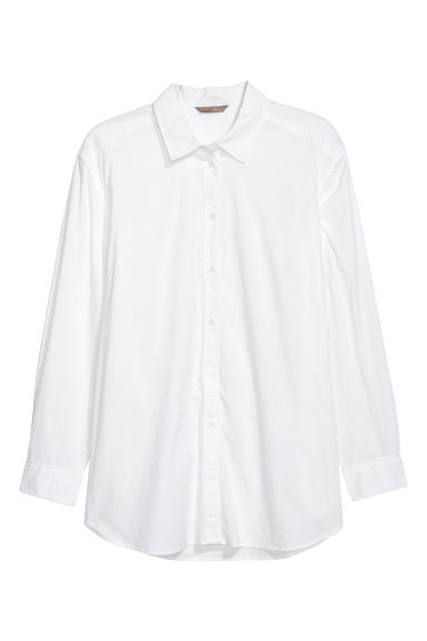 H&M+ Cotton shirt - White - Ladies | H&M GB