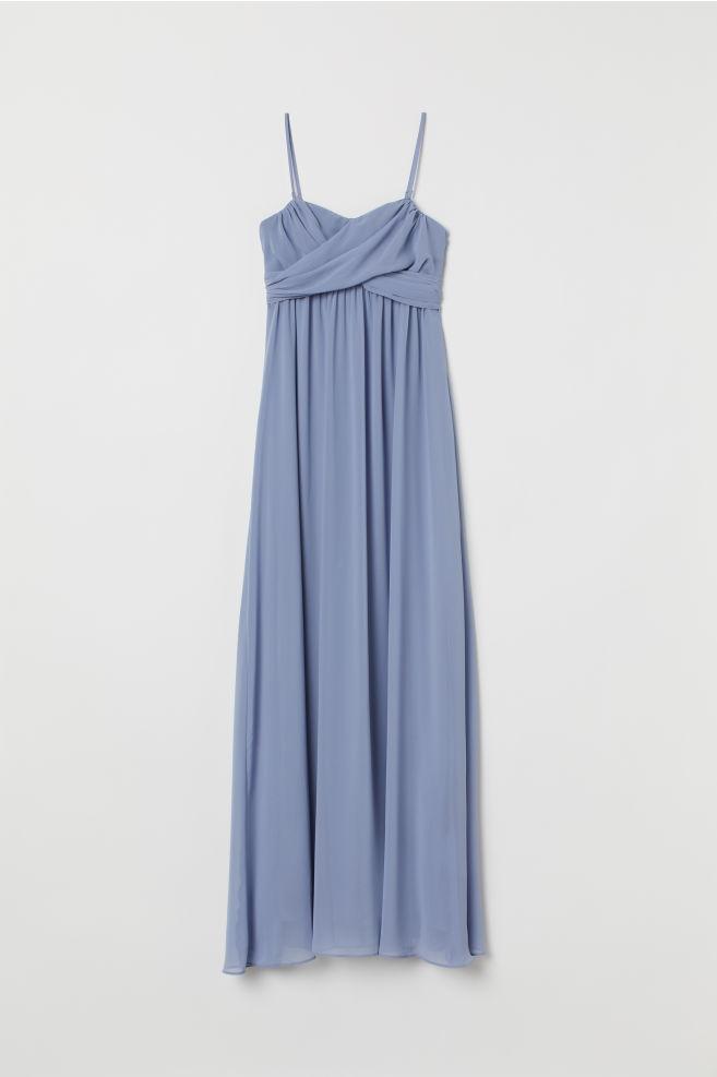 8d2e4b59c5f6 ... Lang bandeau-kjole - Tåkeblå - DAME