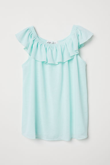Bohemian top - Light turquoise -  | H&M