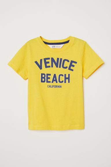 Printed T-shirt - Gold-coloured/Venice Beach - Kids | H&M