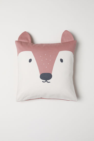 Cotton twill cushion cover - Pink/Fox - Home All | H&M CN