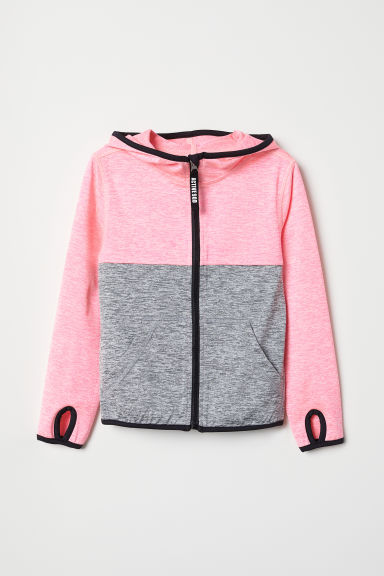 Sports jacket - Neon pink marl - Kids | H&M
