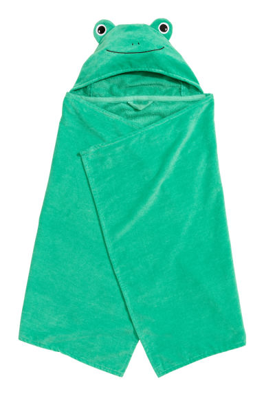 Hand towel with a hood - Green - Home All | H&M CN