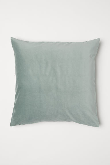Copricuscino in velluto - Verde nebbia - HOME | H&M IT