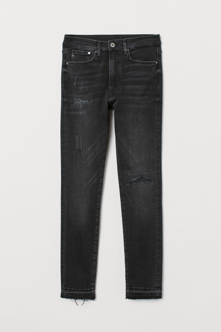 Shaping High Ankle Jeans - Black washed out - Ladies | H&M IN