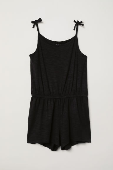 Jersey playsuit - Black - Kids | H&M CN