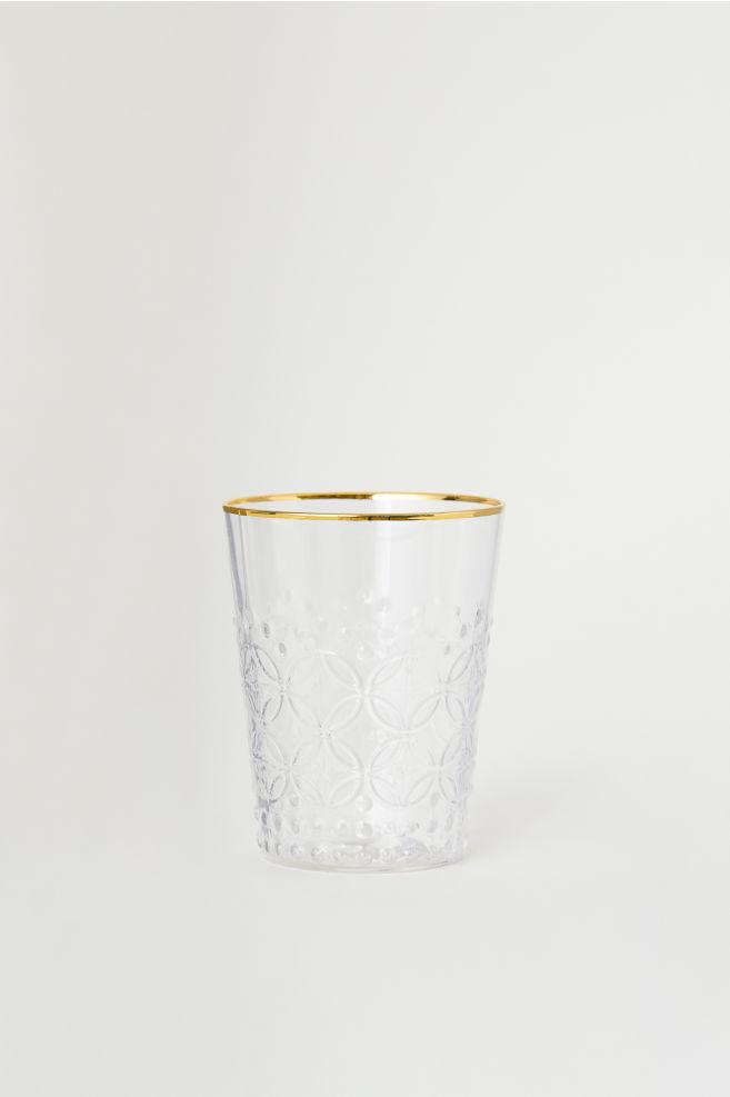 1abeba8933d Vaso de vidrio con relieve - Cristal transparente - HOME