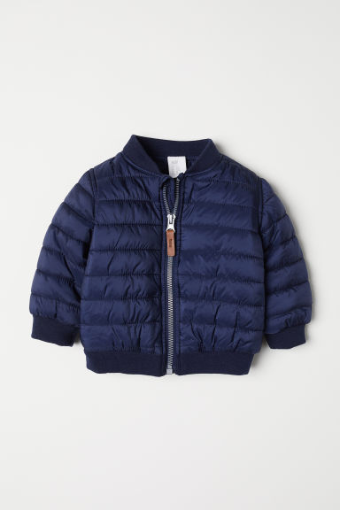 Padded bomber jacket - Dark blue - Kids | H&M