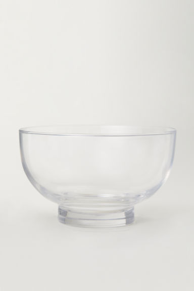 Glass bowl - Clear glass - Home All | H&M CN