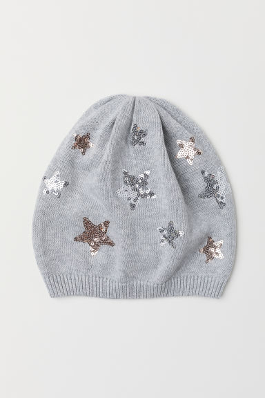 Hat with sequins - Grey/Stars -  | H&M