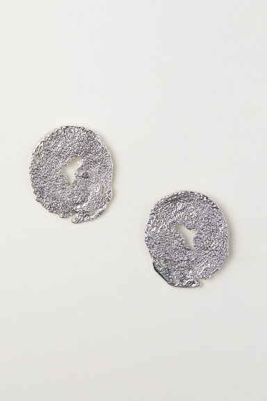 Round earrings - Silver-coloured - Ladies | H&M