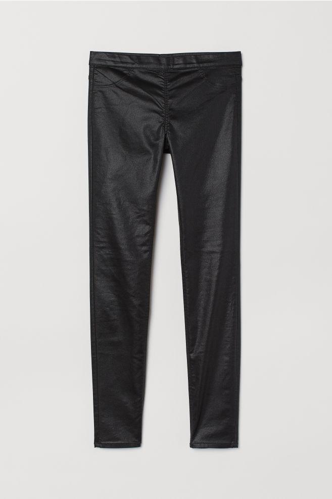 eb6110797cdcad Superstretch treggings - Black/Coated - Ladies | H&M ...