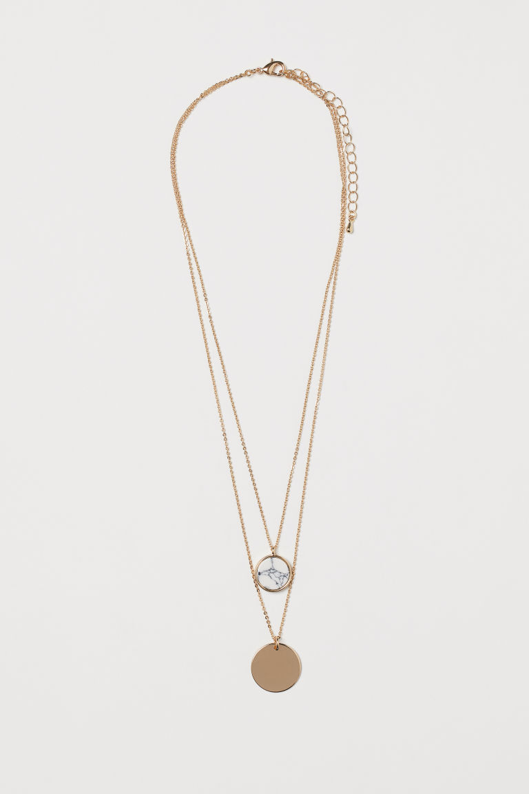 Collana a due fili - Dorato/marmo - DONNA | H&M IT