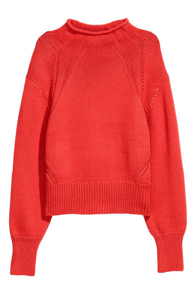 Knitted jumper - Orange - Ladies | H&M CN