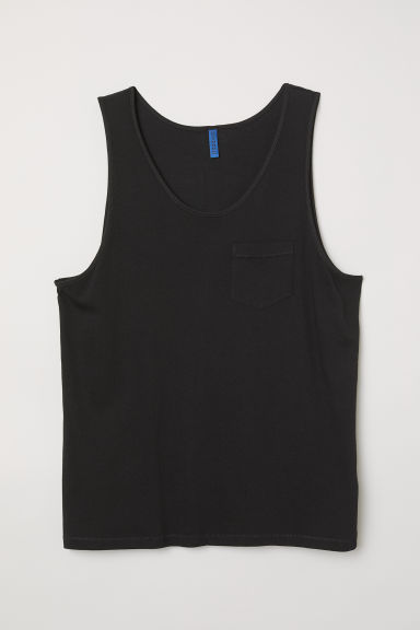 Vest top with a chest pocket - Black - Men | H&M CN