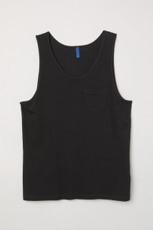 Vest top with a chest pocketModel