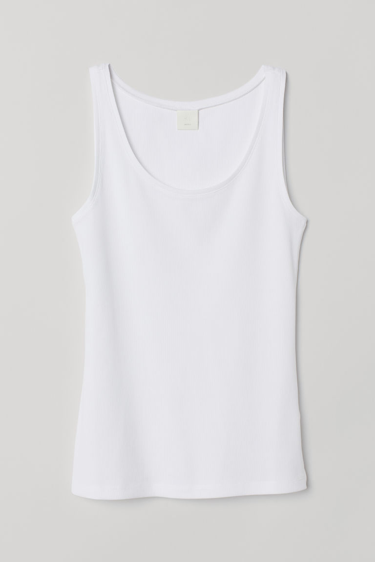 Canotta in jersey - Bianco naturale - DONNA | H&M IT