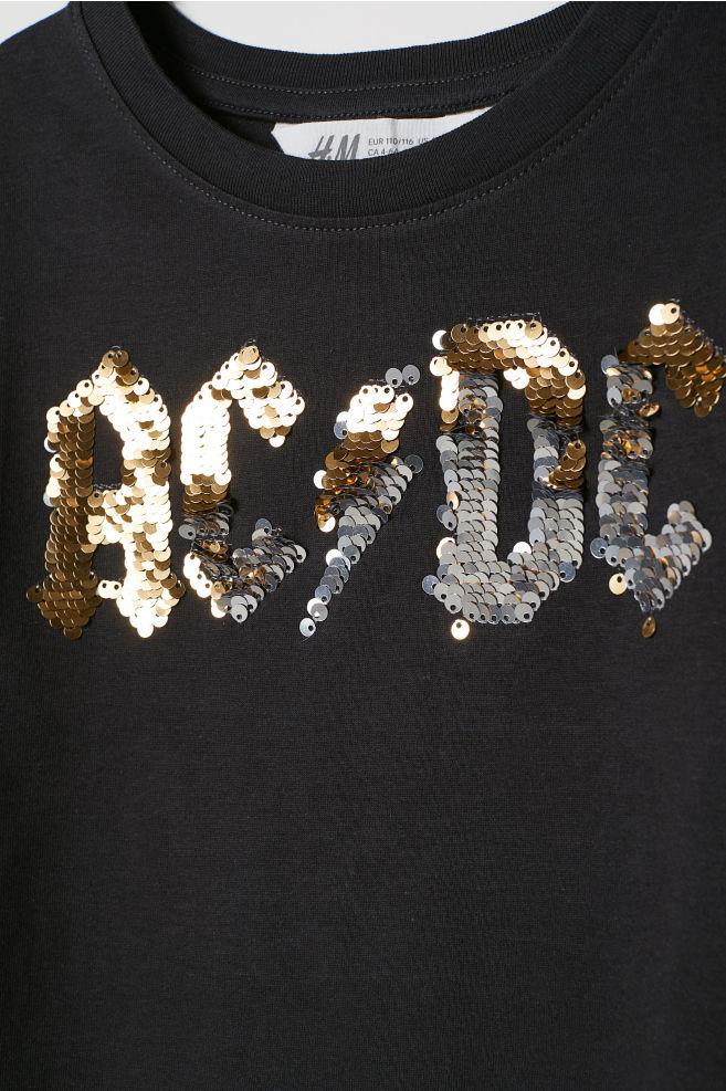 8fb51decf Reversible-sequin T-shirt - Black/AC/DC - Kids | H&M ...