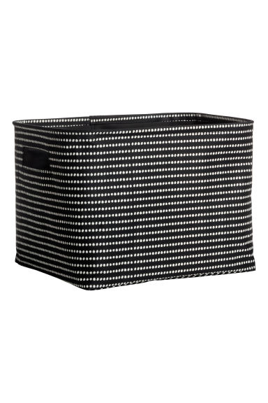 Cotton twill storage basket - Black/White spotted - Home All | H&M GB