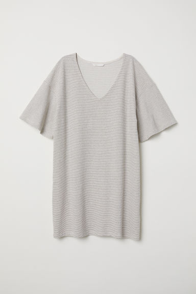 Jersey dress - Light beige/Striped - Ladies | H&M