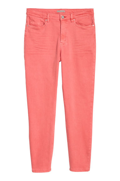 H&M+ Superstretch trousers - Coral red - Ladies | H&M GB