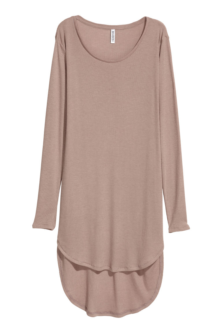 Langes Jerseyshirt - Taupe - Ladies | H&M AT