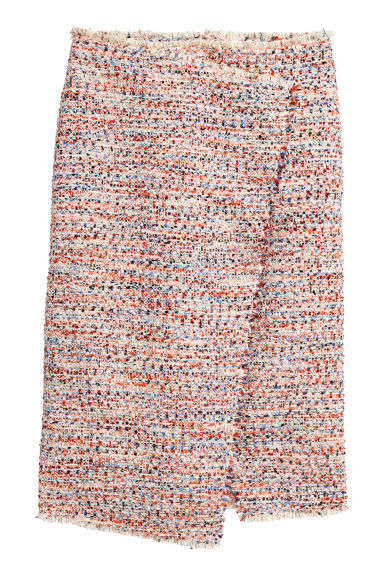 Knee-length skirt - Orange/Multicoloured - Ladies | H&M