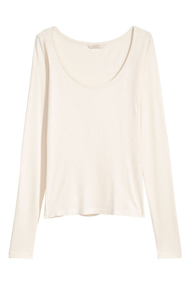 Top de punto - Blanco natural -  | H&M ES
