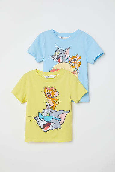 2-pack T-shirts - Yellow/Tom and Jerry - Kids | H&M