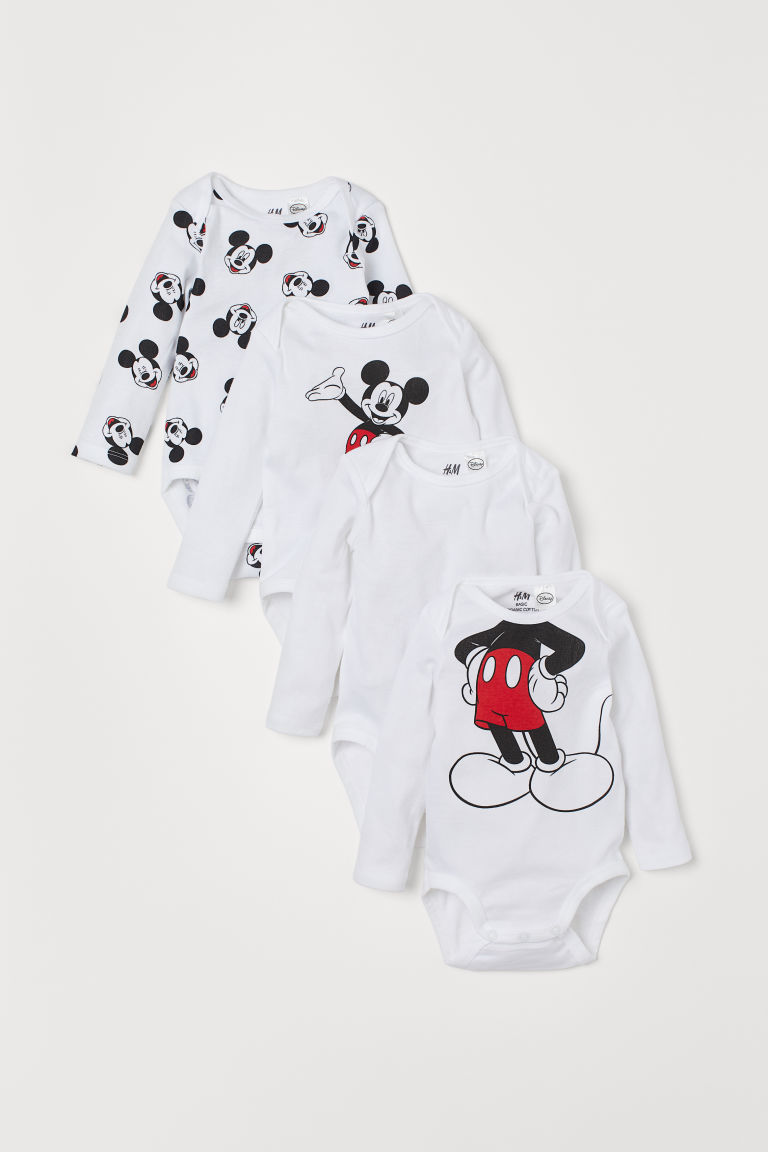 Set van 4 body's - Wit/Mickey Mouse -  | H&M BE