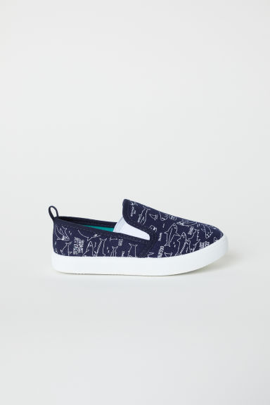 Slip-on mesh trainers - Dark blue -  | H&M CN
