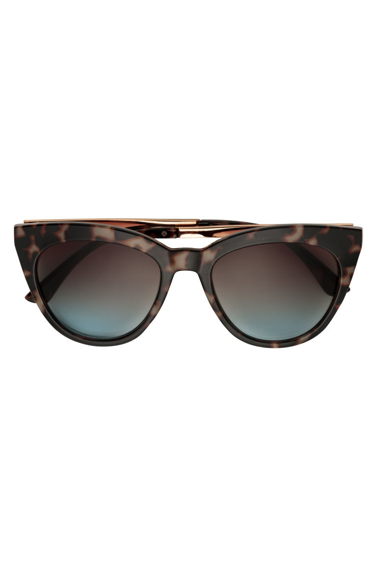 Sunglasses - Grey/Tortoiseshell pattern - Ladies | H&M CN