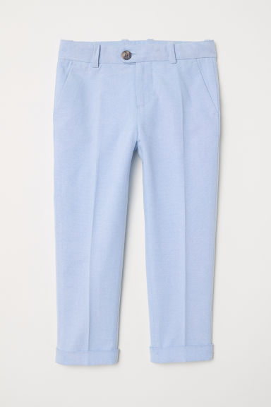 Cotton suit trousers - Light blue - Kids | H&M