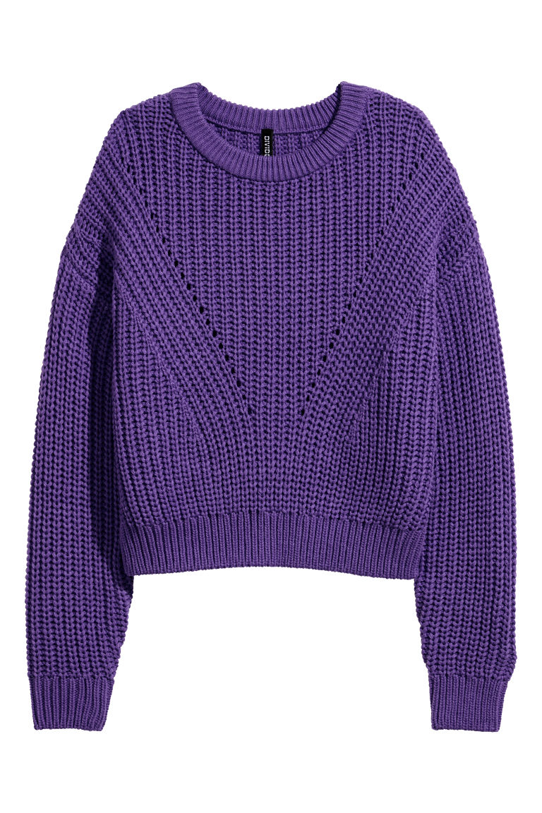 Rib-knit Sweater - Purple - Ladies | H&M CA