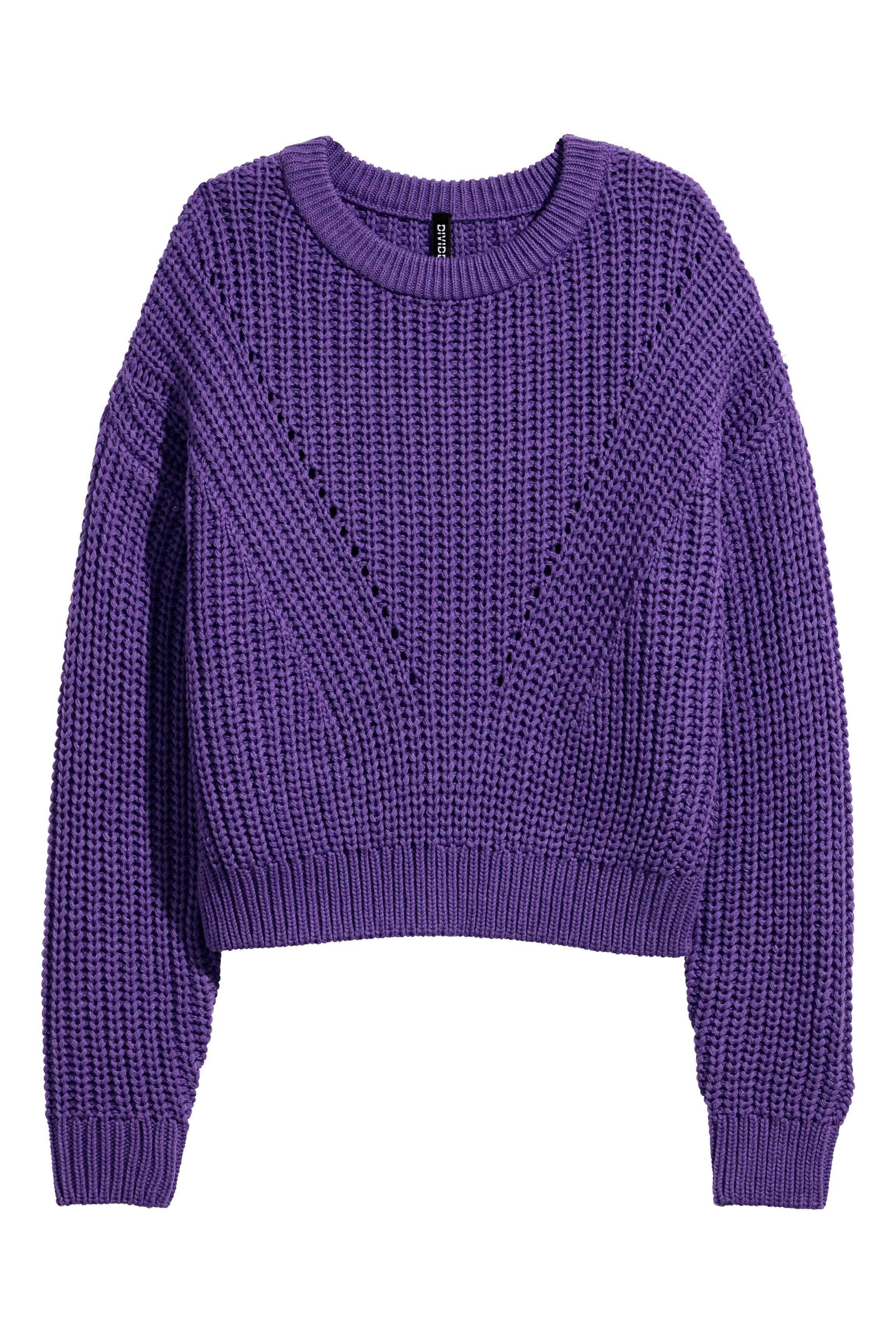 1284a7b5442fd3 Rib-knit jumper - Purple - Ladies