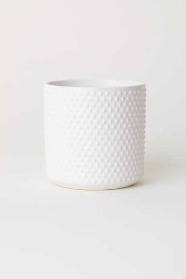Small stoneware plant pot - White - Home All | H&M IE