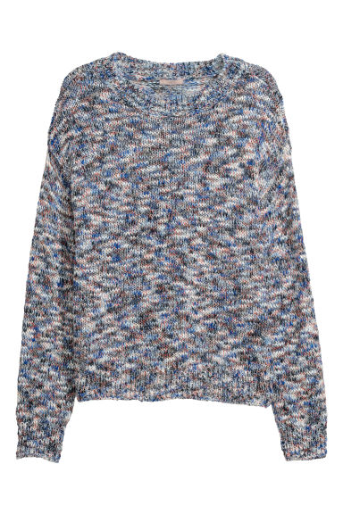 H&M+ Knitted jumper - Blue/Multicoloured -  | H&M