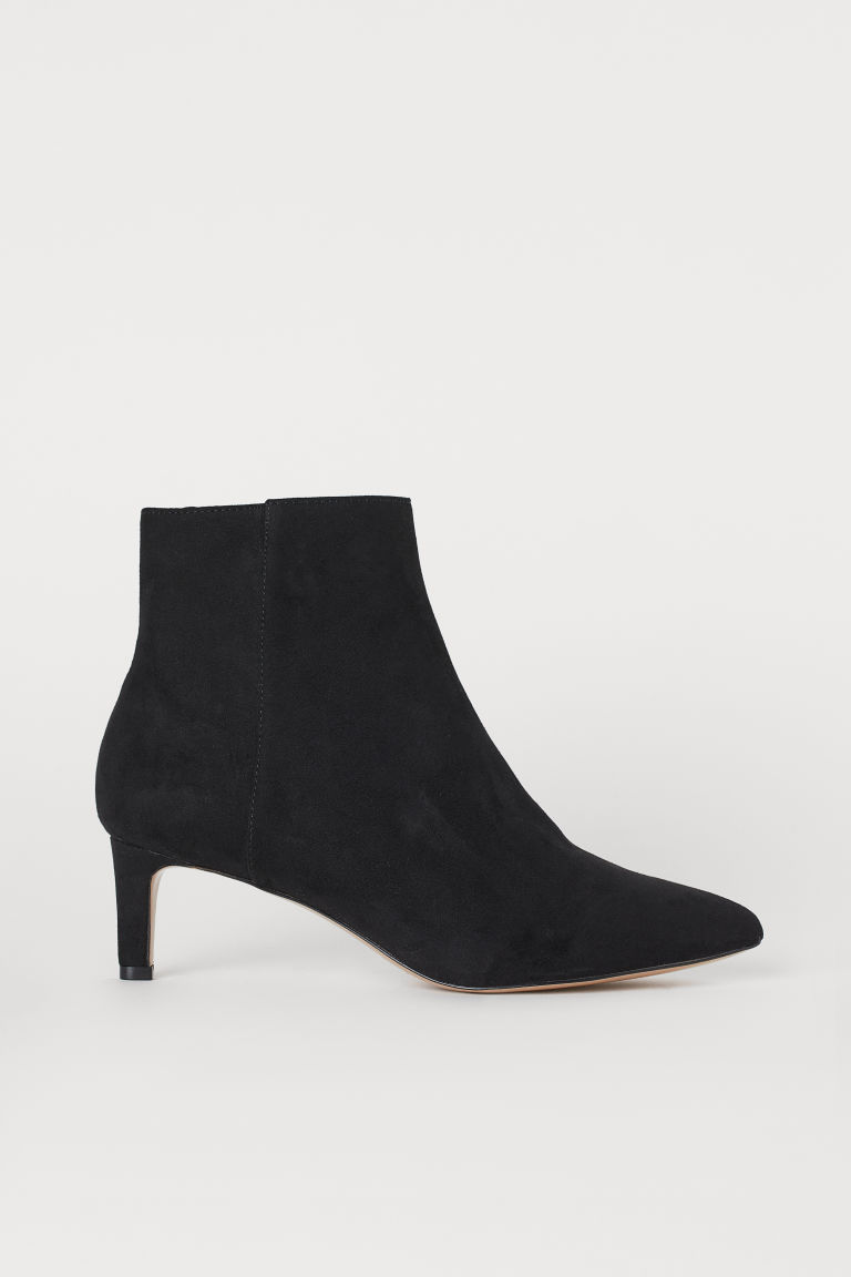 Ankle Boots with Pointed Toes - Black - Ladies | H&M CA