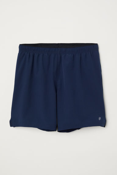 Running shorts - Navy blue - Men | H&M
